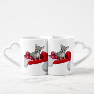 Christmas Chihuahua dog Couples Mug