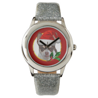 Christmas Chihuahua dog Wrist Watches