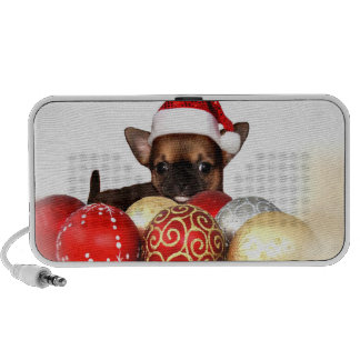 Christmas chihuahua puppy iPod speakers