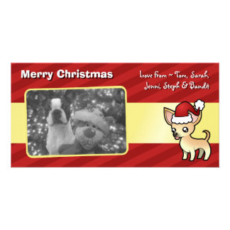 Christmas Chihuahua (smooth coat) Custom Photo Card