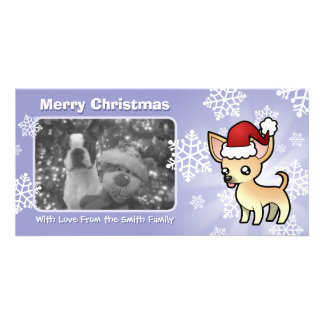 Christmas Chihuahua (smooth coat) Photo Card Template