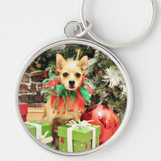Christmas - Chihuahua X - Buster Keychains