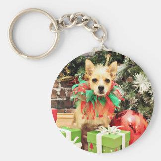 Christmas - Chihuahua X - Buster Key Chain