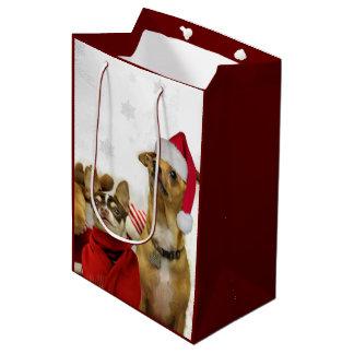Christmas Chihuahuas gift bag