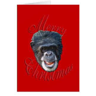 Christmas Chimpanzee Card