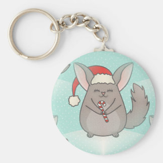 christmas chinchillas key ring
