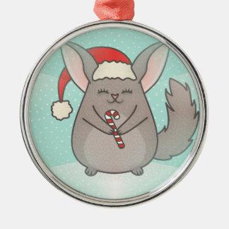 christmas chinchillas metal ornament