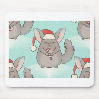 christmas chinchillas mouse pad
