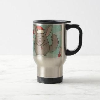 christmas chinchillas travel mug