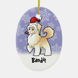 Christmas Chinese Crested add your pets name Christmas Tree Ornament