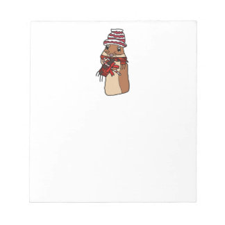 Christmas Chipmunk Hamster Gerbil Cartoon Drawing Notepad