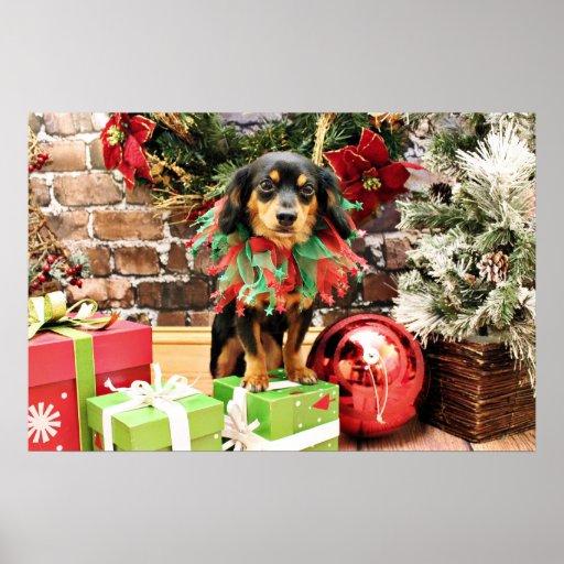 Christmas - Chiweenie - Titus Print