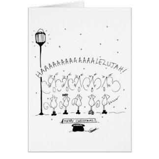 Christmas Choir Stickmice Card