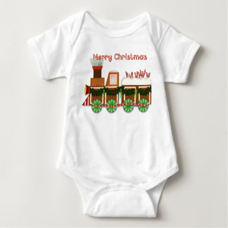 Christmas Choo Choo Train Baby Bodysuit