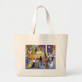 Christmas Chorus Large Tote Bag
