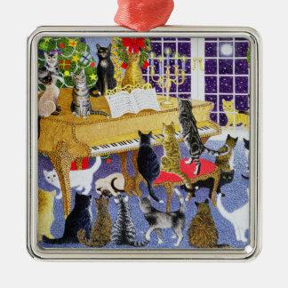 Christmas Chorus Metal Ornament
