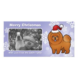 Christmas Chow Chow Photo Greeting Card