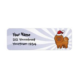 Christmas Chow Chow Return Address Label