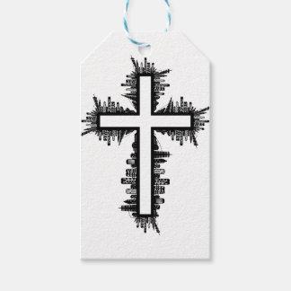 Christmas christ cross gift tags