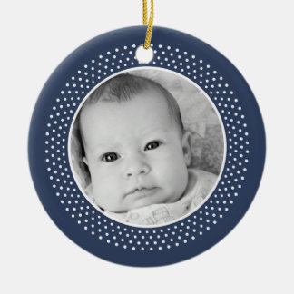 Christmas /Christian: Double-Sided Photo Ceramic Ornament