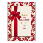 Christmas- Christian - Greatest Gift - Ribbon Card