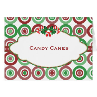 Christmas Circle Candy Buffet Candy Name card