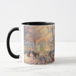 Christmas city - christmas village mug