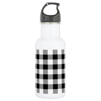 Christmas classic Buffalo check plaid pattern B&W 532 Ml Water Bottle