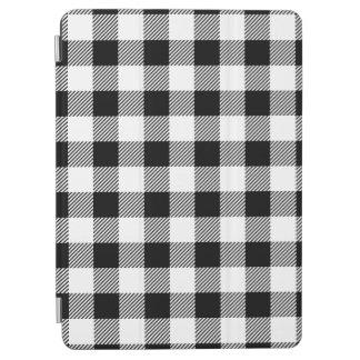 Christmas classic Buffalo check plaid pattern B&W iPad Air Cover