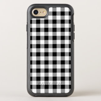 Christmas classic Buffalo check plaid pattern B&W OtterBox Symmetry iPhone 8/7 Case