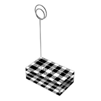 Christmas classic Buffalo check plaid pattern B&W Table Card Holder