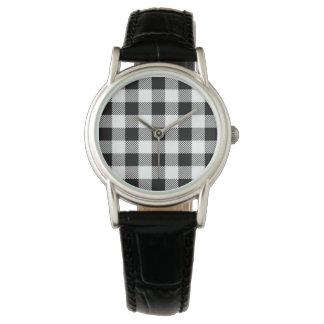 Christmas classic Buffalo check plaid pattern B&W Watch