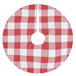 Christmas classic Buffalo check plaid pattern Brushed Polyester Tree Skirt