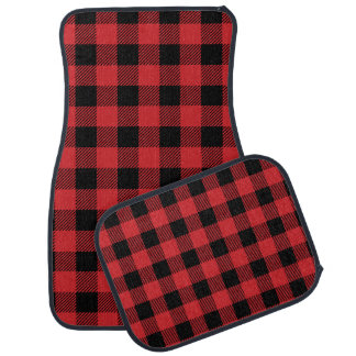Christmas classic Buffalo check plaid pattern Car Mat