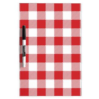 Christmas classic Buffalo check plaid pattern Dry Erase Board