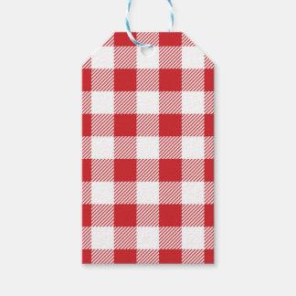 Christmas classic Buffalo check plaid pattern Gift Tags