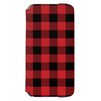 Christmas classic Buffalo check plaid pattern Incipio Watson™ iPhone 6 Wallet Case