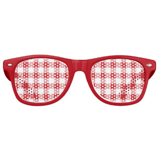 Christmas classic Buffalo check plaid pattern Retro Sunglasses