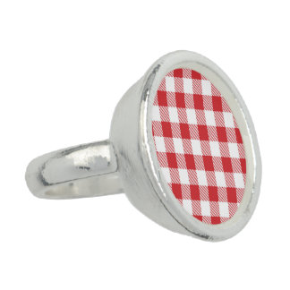 Christmas classic Buffalo check plaid pattern Ring