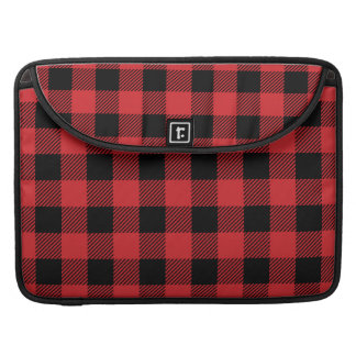 Christmas classic Buffalo check plaid pattern Sleeve For MacBooks