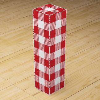 Christmas classic Buffalo check plaid pattern Wine Gift Box