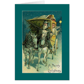 Christmas coach ride with angel card