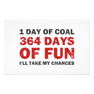 Christmas Coal VS 364 Days of Fun Stationery Paper