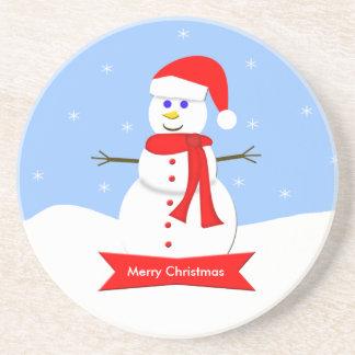 Christmas Coaster - Merry Christmas Snowman