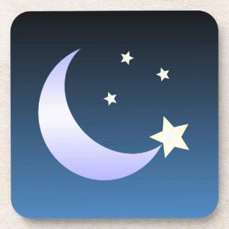 Christmas Coaster - Moon And Stars