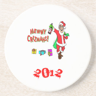 Christmas*Coasters*Fun*Santa Drunk*Happy Holidays* Coasters
