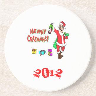 Christmas*Coasters*Fun*Santa Drunk*Happy Holidays* Coasters
