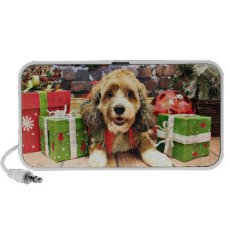 Christmas - Cockapoo - Riley Portable Speakers