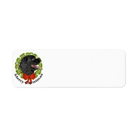 Christmas Cocker Return Address Label