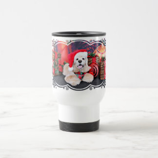 Christmas - Cocker Spaniel - Tobey 15 Oz Stainless Steel Travel Mug